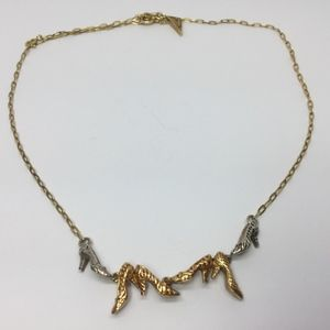 Raine Just The Right Shoe Sterling & Gold Necklace